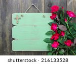 Rustic Green Blank Sign With...
