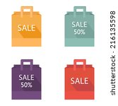 paper shopping bag. shopping... | Shutterstock .eps vector #216135598