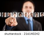 employer choosing the right... | Shutterstock . vector #216140242