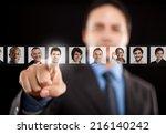 employer choosing the right... | Shutterstock . vector #216140242