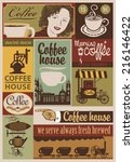 set of banners on the theme of... | Shutterstock .eps vector #216146422
