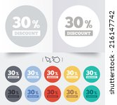 30 percent discount sign icon....   Shutterstock . vector #216147742
