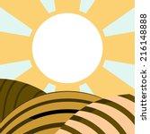 vector illustration of field.... | Shutterstock .eps vector #216148888
