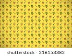 decorated background or... | Shutterstock . vector #216153382