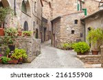 Old Streets In The Town Of...