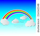 vector illustration of rainbow... | Shutterstock .eps vector #216162148