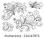 ornate stars | Shutterstock .eps vector #216167872