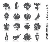 vegetables icons | Shutterstock .eps vector #216173176