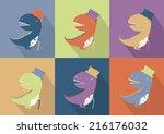 cute dinosaur monster cartoon    Shutterstock .eps vector #216176032