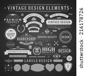 vintage vector design elements. ... | Shutterstock .eps vector #216178726