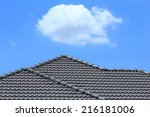 Black Tile Roof On A New House...