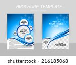 flyer template back and front... | Shutterstock .eps vector #216185068