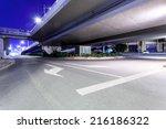 empty freeway at night   Shutterstock . vector #216186322