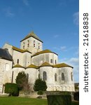 Small photo of Medieval church and abbey at Saint Savin in France which includes frescoes that are a UNESCO World Heritage site