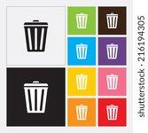 trash bin icon   vector | Shutterstock .eps vector #216194305