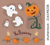 halloween set  | Shutterstock .eps vector #216198238