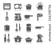 kitchen utensils and appliances ... | Shutterstock .eps vector #216198736