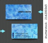 business card template with... | Shutterstock .eps vector #216200365
