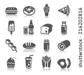 food and drinks icons | Shutterstock .eps vector #216202816