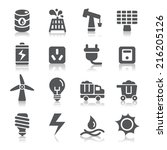energy icons | Shutterstock .eps vector #216205126