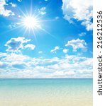 beach and tropical sea | Shutterstock . vector #216212536