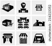 shop supermarket  vector icons... | Shutterstock .eps vector #216213352