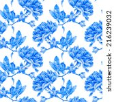 floral pattern. vector seamless ... | Shutterstock .eps vector #216239032