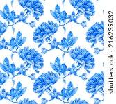 floral pattern. vector seamless ... | Shutterstock .eps vector #216239032