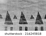 ethno print on textile | Shutterstock . vector #216245818