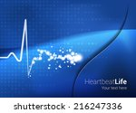 medical abstract heartbeat... | Shutterstock .eps vector #216247336