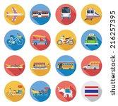 flat icons set   thailand...   Shutterstock .eps vector #216257395