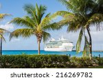 White Luxury Cruise Ship In...