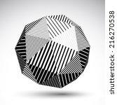 symmetric spherical vector... | Shutterstock .eps vector #216270538