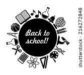 back to school black and white... | Shutterstock . vector #216272848