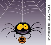 vector illustration of spider | Shutterstock .eps vector #216279166