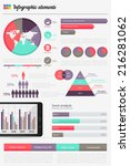 big set of infographics... | Shutterstock .eps vector #216281062