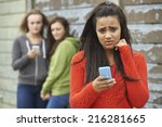 teenage girl being bullied by... | Shutterstock . vector #216281665