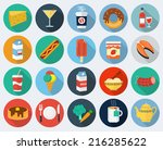 vector food icons  set 2