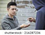 Teenage Boy Buying Drugs On Th...