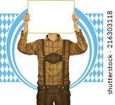 idea concept. vector man with... | Shutterstock .eps vector #216303118