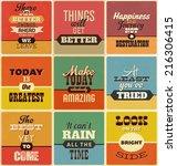 retro typographic poster design ... | Shutterstock .eps vector #216306415