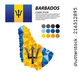 barbados geometric concept... | Shutterstock .eps vector #216312895