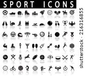 sports icons | Shutterstock .eps vector #216316855
