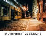 an alley at night  in brooklyn  ... | Shutterstock . vector #216320248