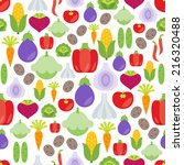 seamless pattern with flat... | Shutterstock .eps vector #216320488