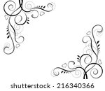 abstract floral black... | Shutterstock .eps vector #216340366