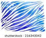 watercolor zebra ornament blue... | Shutterstock .eps vector #216343042