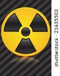 glossy radiation sign on... | Shutterstock .eps vector #21635503