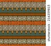 tribal art ethnic seamless... | Shutterstock .eps vector #216359815