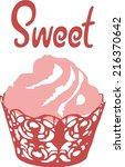 pink cupcake   Shutterstock .eps vector #216370642